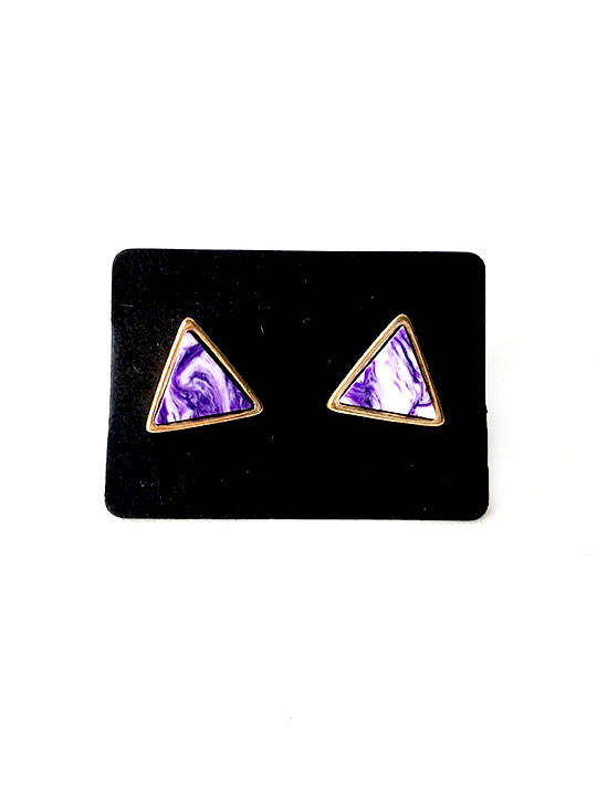 Purple-Marble-Triangle-Stud-Earrings-3
