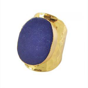 lapis large ring