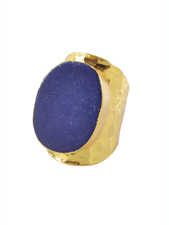 lapis large ring