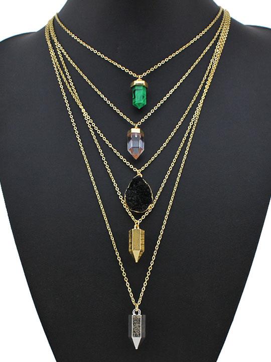 delux-Stone-multi-chain-pendant-necklace