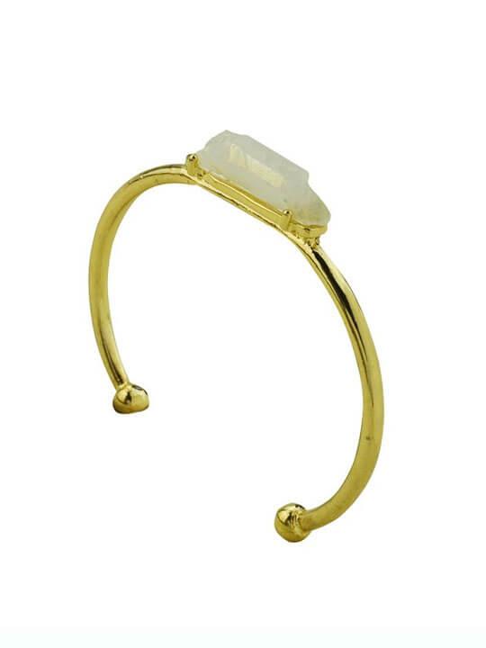 white druzy stone bracelet
