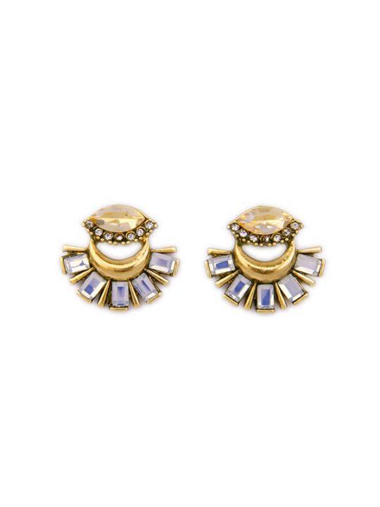 Crystal fan statement drop earrings 2 copy