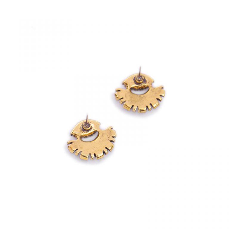 Crystal fan statement drop earrings 4