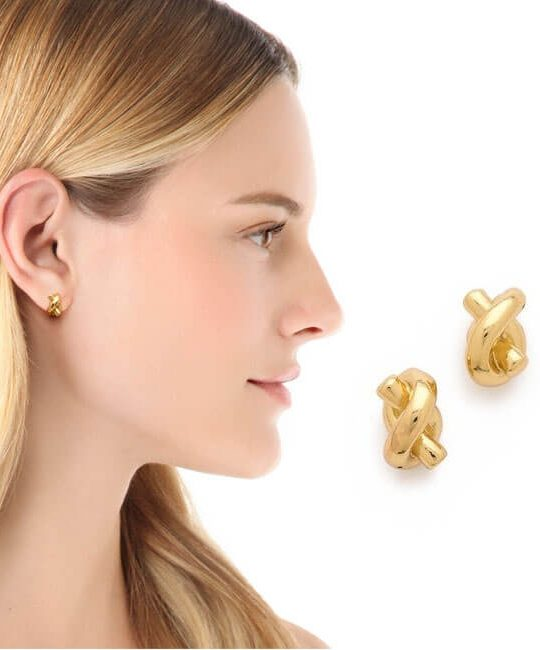 fashion jewelry knot design stud earrings gift for women