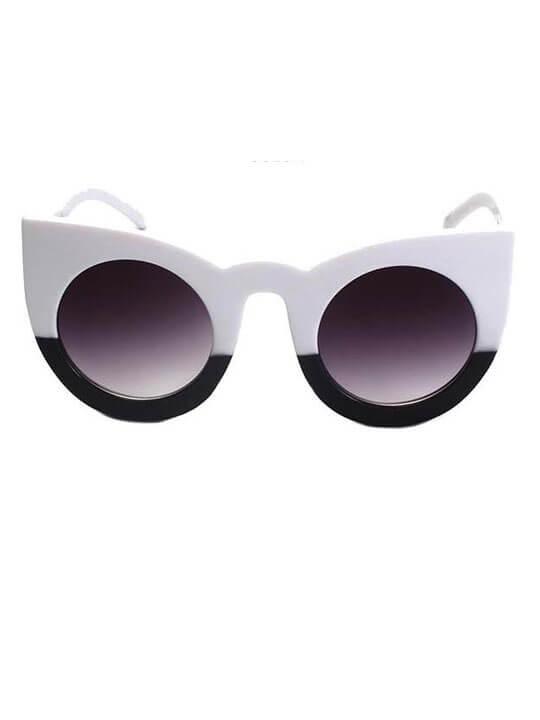half black white sunglasses