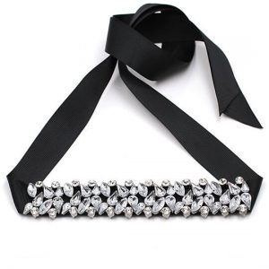 crystal ribbon choker necklace deal of the day