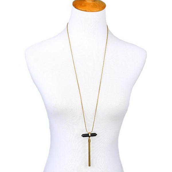 black-geode-stone-tassel-necklace-2