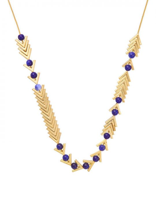 modern lapis necklace