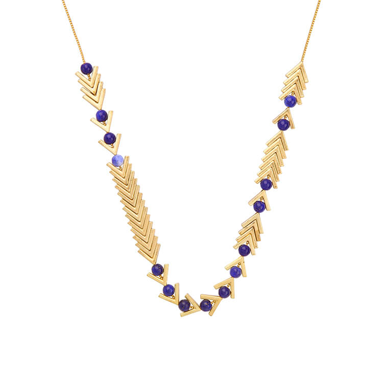 modern lapis necklace
