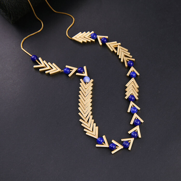 lapis long necklace gift for christmas