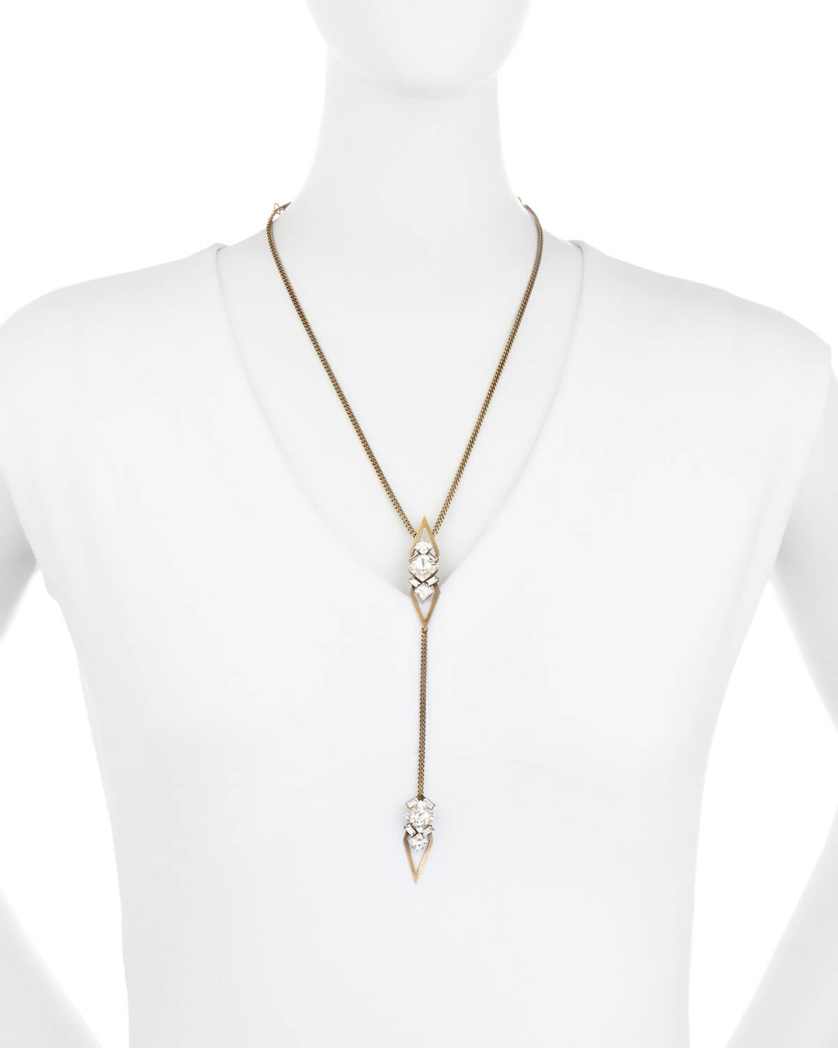 necklace chain - crystal stone