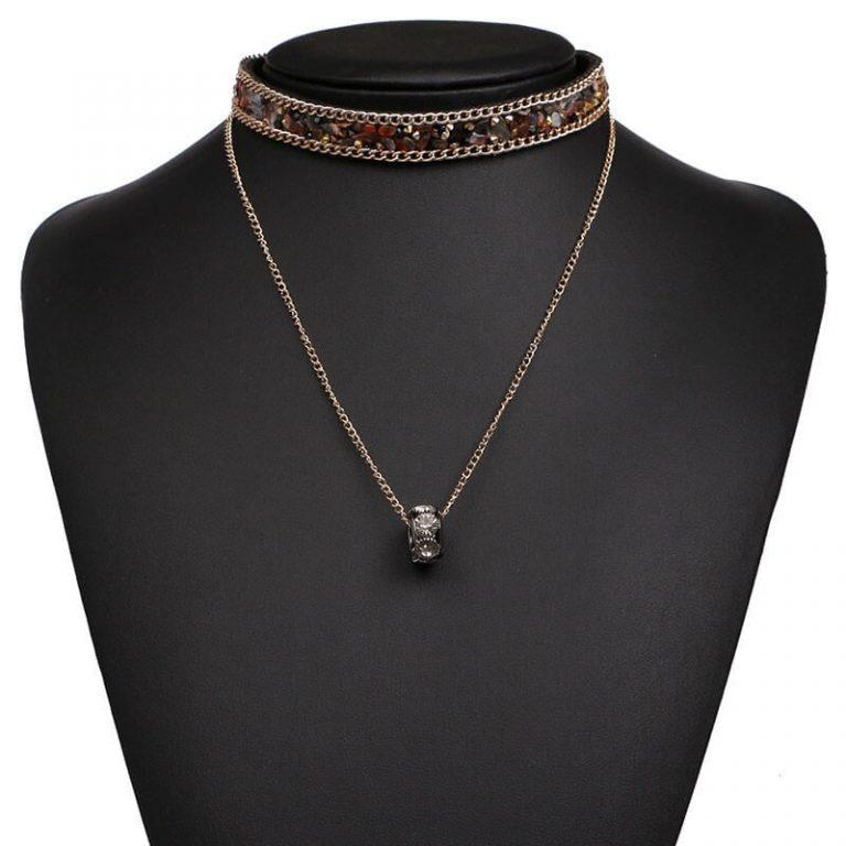 earthtone-druzy-choker-necklace-2
