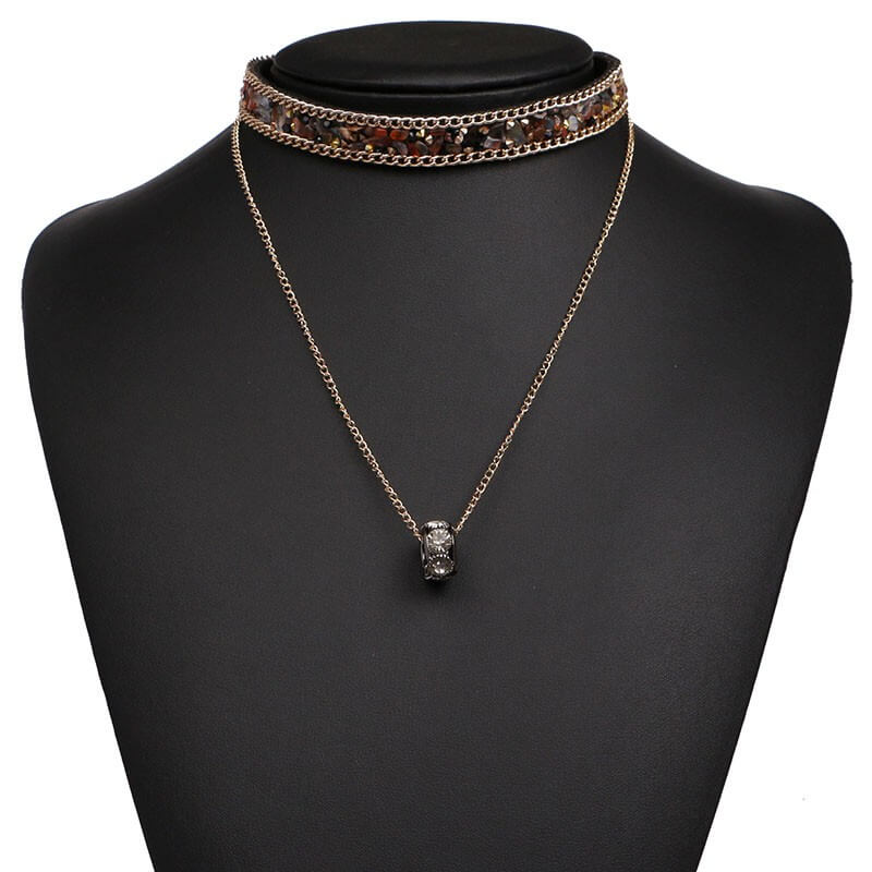druzy choker necklace
