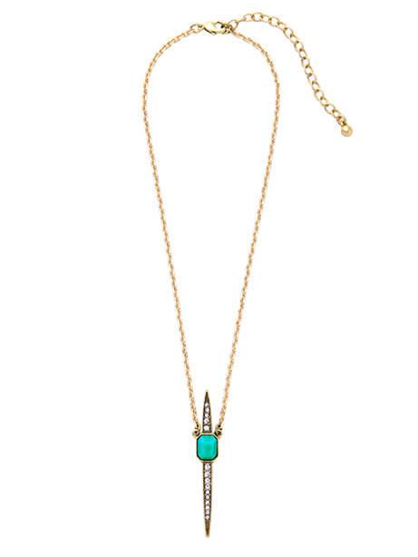 pave point pendant necklace