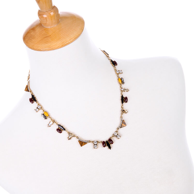 classy locust crystal collar statement necklace