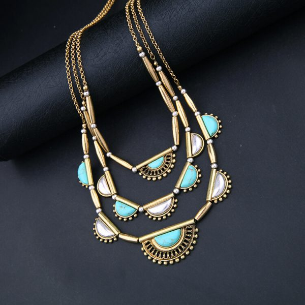 pearl-turquoise-3-chain-statement-necklace-10