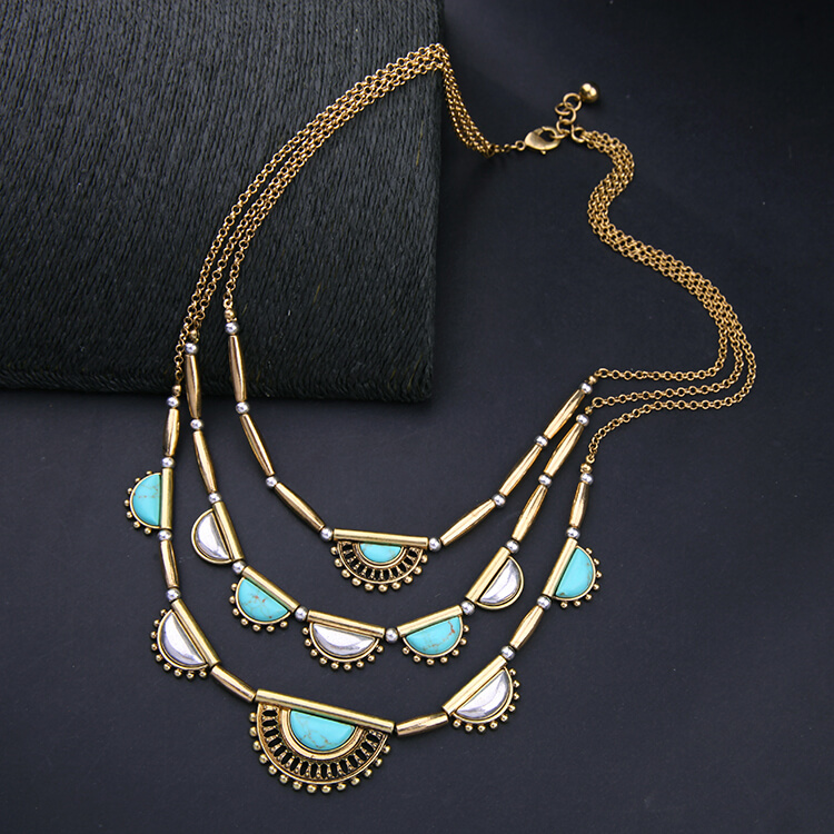 pearl-turquoise-3-chain-statement-necklace-7