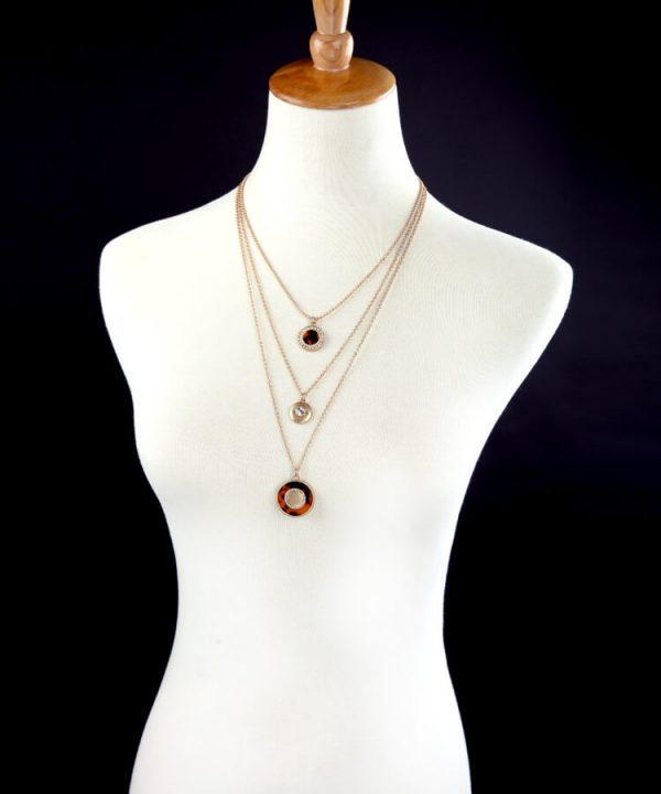 tortoise-circle-3-chain-necklace-7