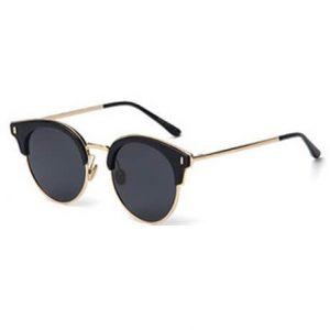 fashion miami beach black gold sunglasses