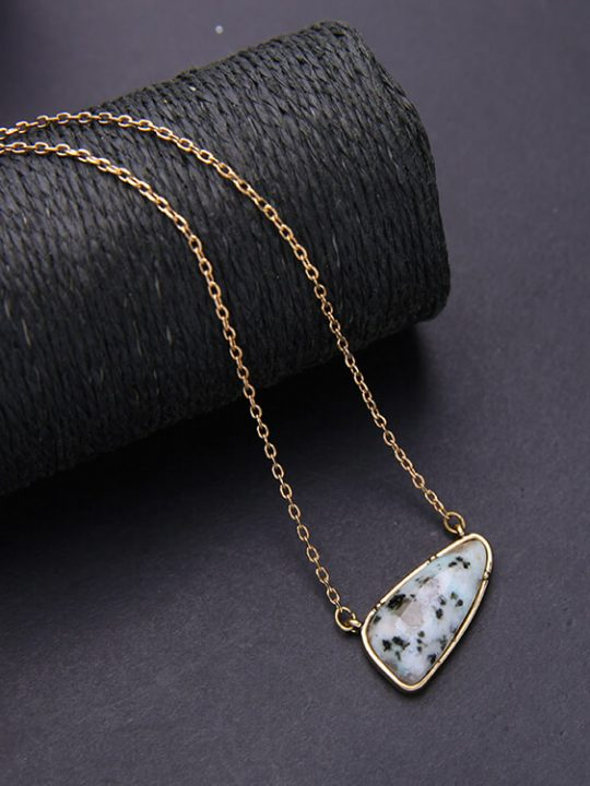 rock pendant necklace chain for her