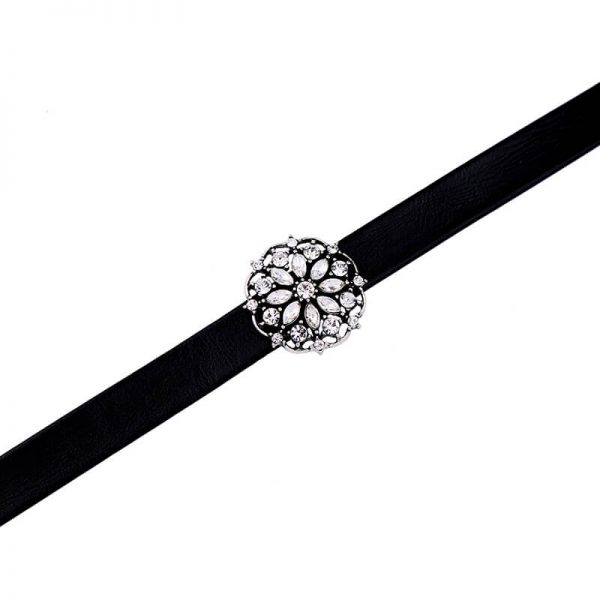 Floral Crystal Choker Necklace 2