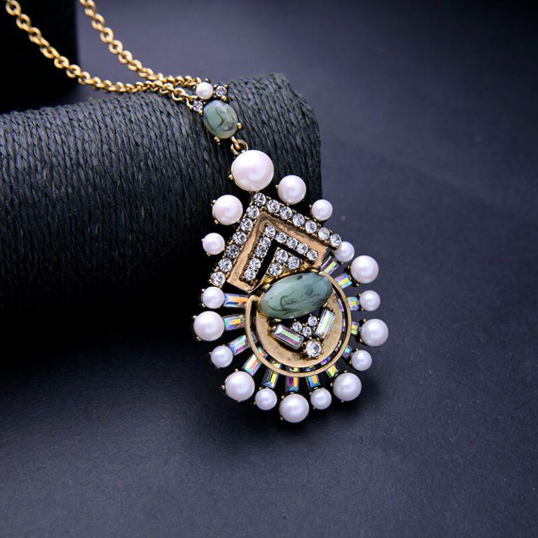 cloud pearl pendant necklace