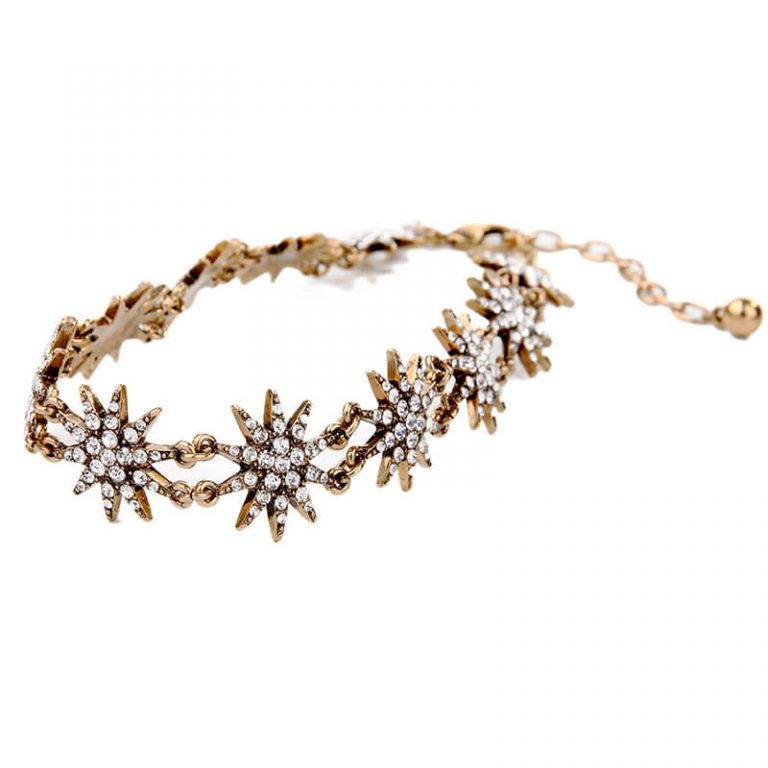 crystal star choker necklace 3