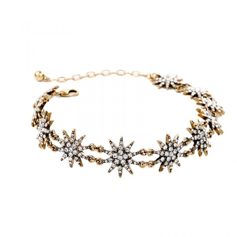 crystal star choker necklace 4