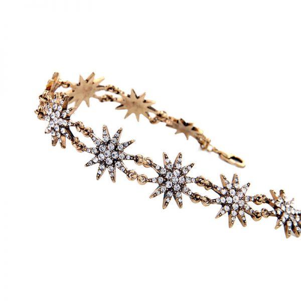 crystal star choker necklace