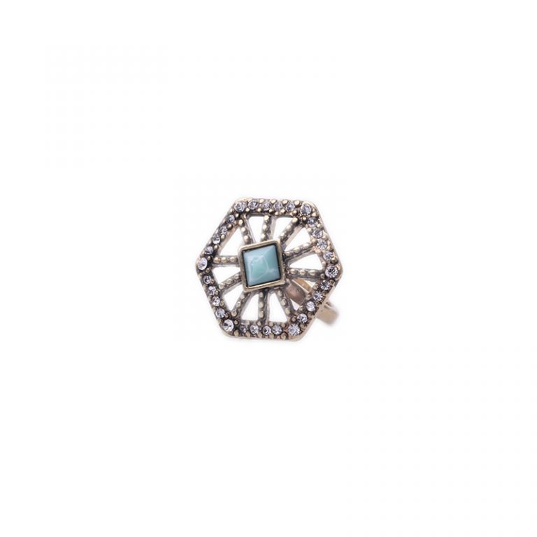 Crystal Web statement ring 2