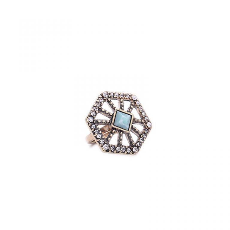 Crystal Web statement ring 4