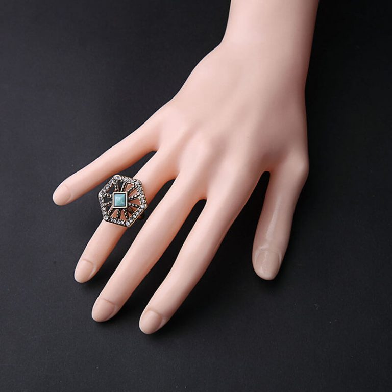 Crystal Web statement ring