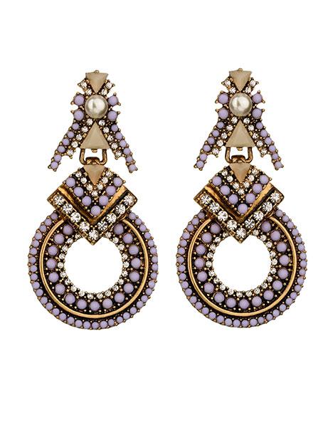 lavendar-stone-statement-earrings