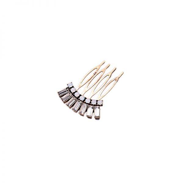 white stone hair clip
