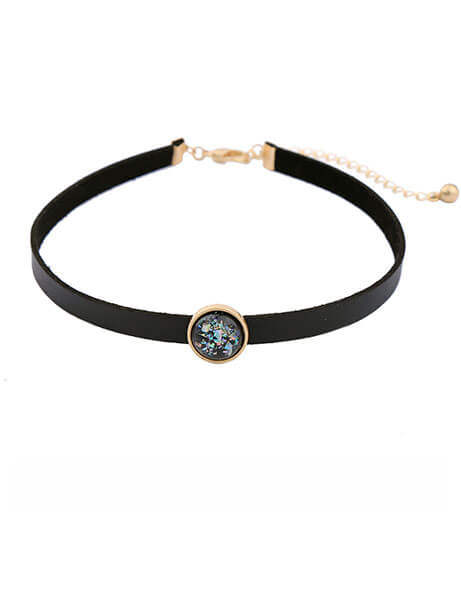 Iridescent-Stone-choker-necklace