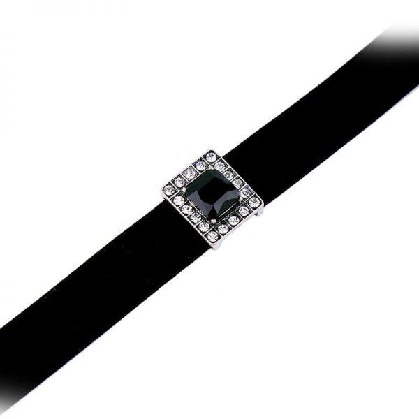 black crystal pendant choker necklace 5