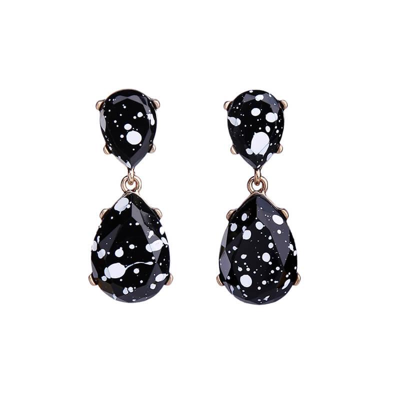 c81be8a0c Black White Paint Splatter Statement Earrings - Hello Supply Modern ...