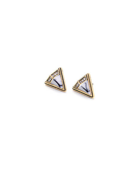 White-Marble-Triangle-Stone-Stud-Earrings-3