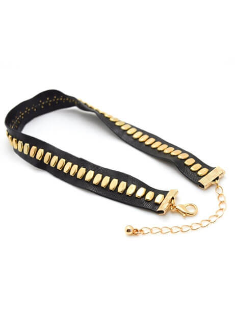 black-leather-gold-accent-choker-necklace (1)
