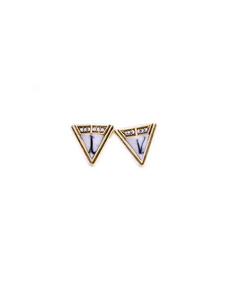 triangle marble studs