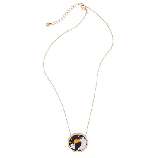 Multicolor Round Resin Necklace 2