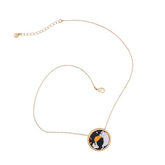Multicolor Round Resin Necklace 4