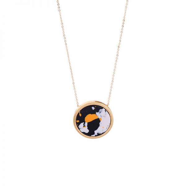 Multicolor Round Resin Necklace 5