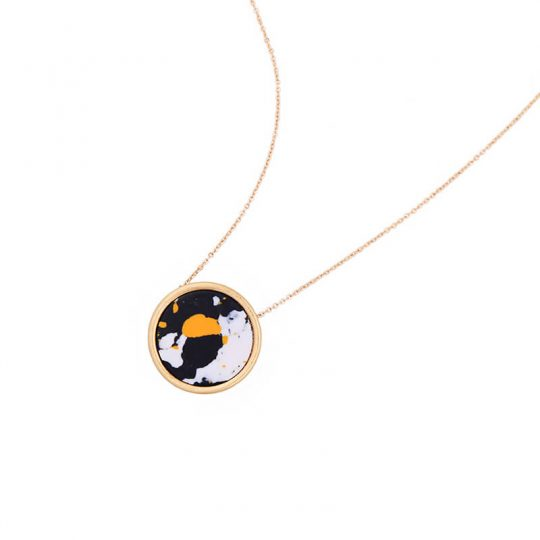 Multicolor Round Resin Necklace 8