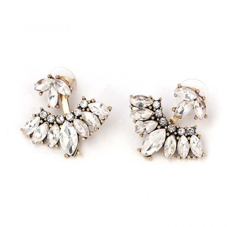 Rain Crystal Drop Statement Earrings 2