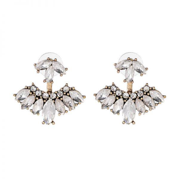 Rain Crystal Drop Statement Earrings 3