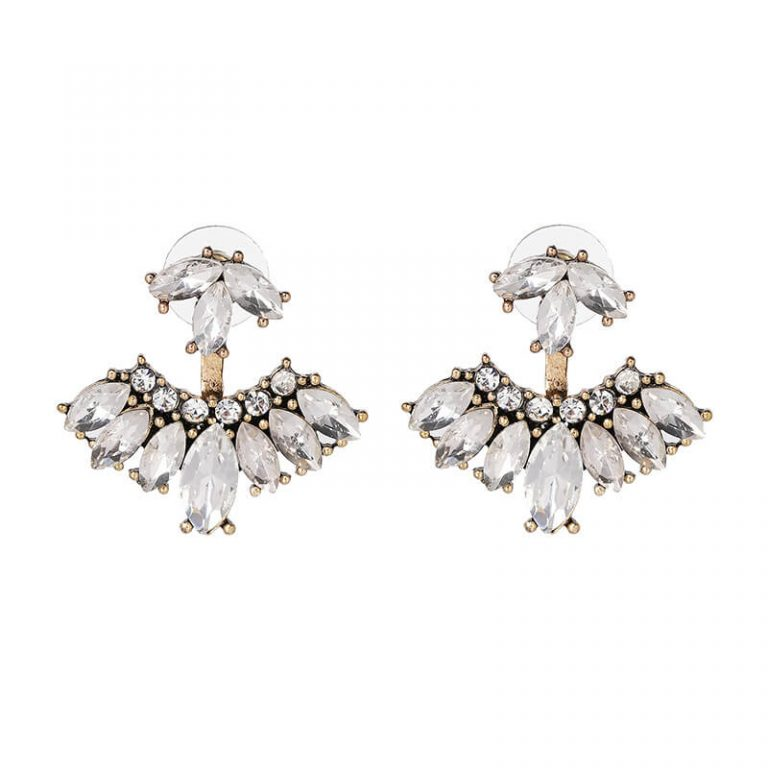 Rain Crystal Drop Statement Earrings 3