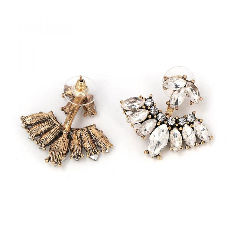 Rain Crystal Drop Statement Earrings