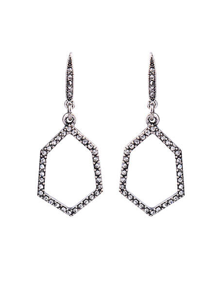 Silver crystal statement earrings
