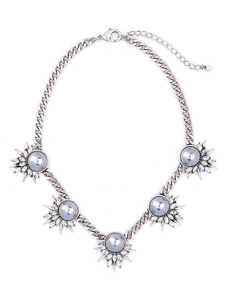 gray-pearl-crystal-chain-statement-necklace